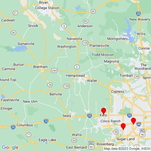Map of Hempstead, TX