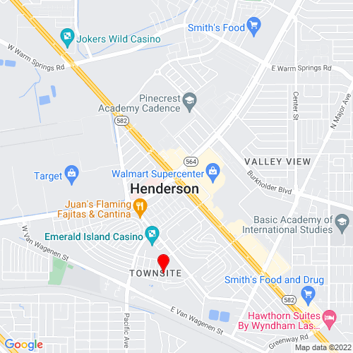 Map of Henderson, NV