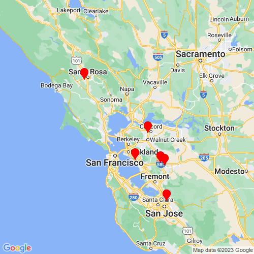 Map of Hercules, CA