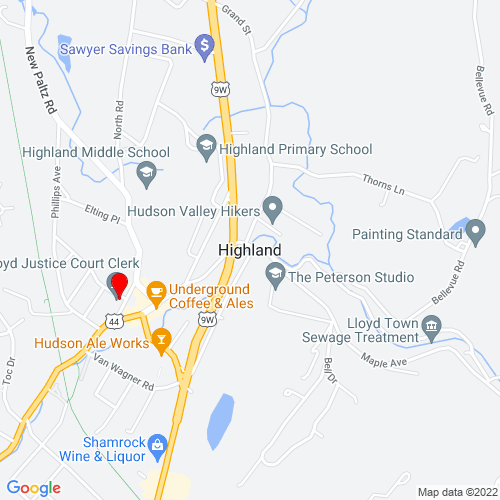 Map of Highland, NY
