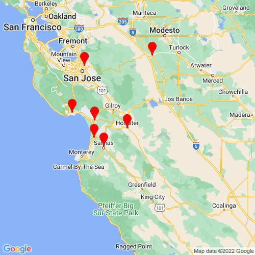 Map of Hollister, CA