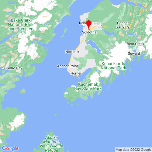 Map of Homer, AK