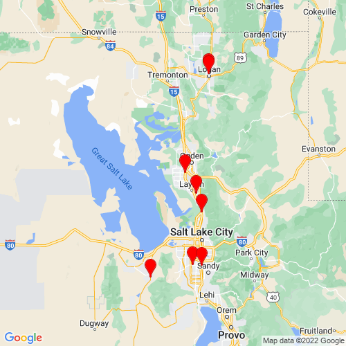 Map of Hooper, UT