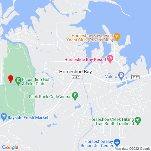 Map of Horseshoe Bay, TX