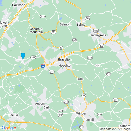 Map of Hoschton, GA
