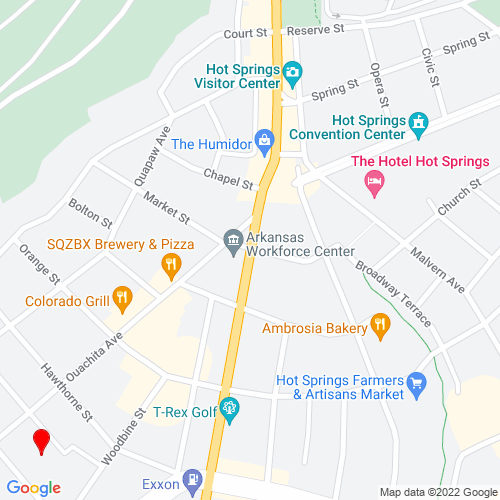 Map of Hot Springs, AR