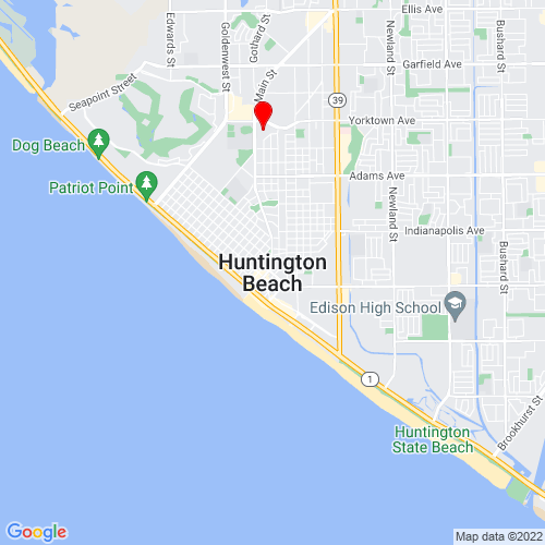 Map of Huntington Beach, CA