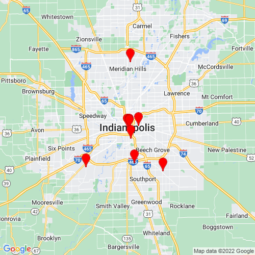 Map of Indianapolis, IN