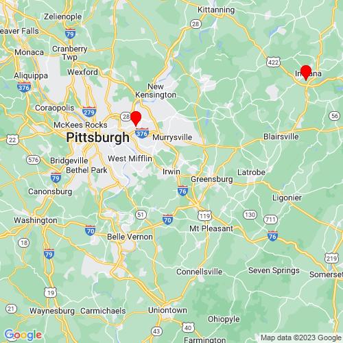 Map of Irwin, PA