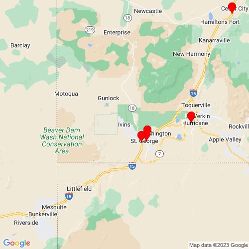 Map of Ivins, UT