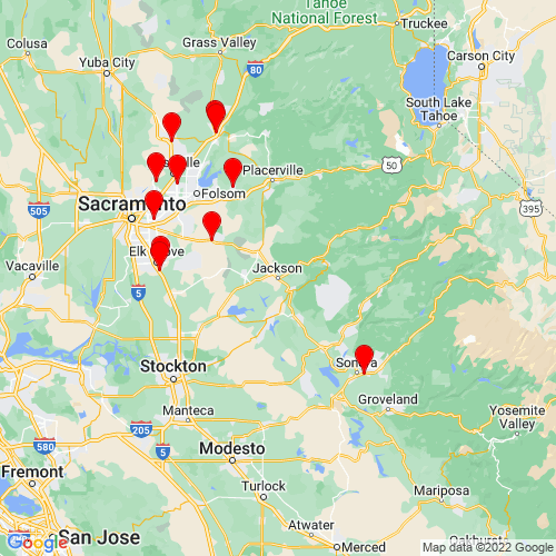 Map of Jackson, CA
