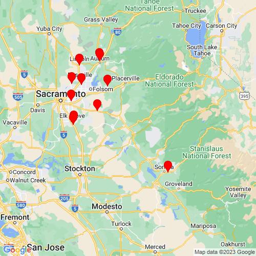 Map of Jackson, CA