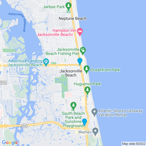 Map of Jacksonville Beach, FL