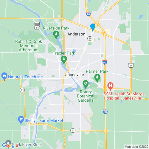 Map of Janesville, WI