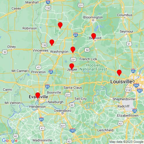 Map of Jasper, IN