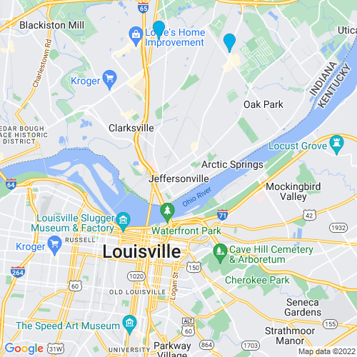 Map of Jeffersonville, IN