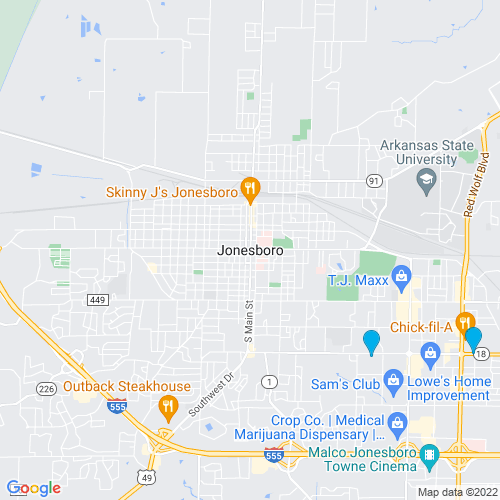 Map of Jonesboro, AR