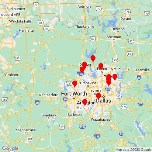 Map of Justin, TX