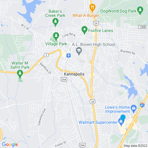 Map of Kannapolis, NC
