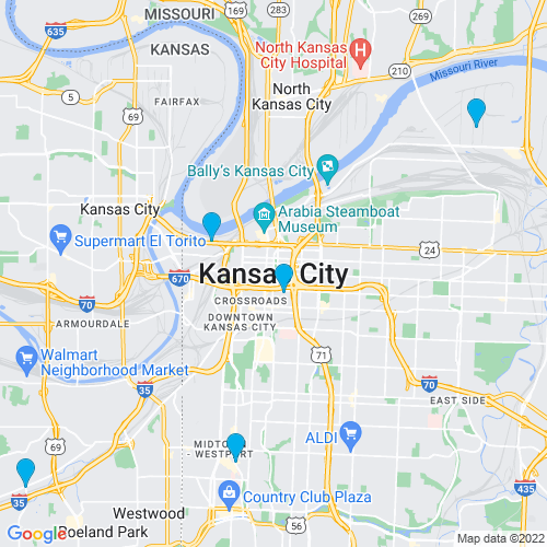 Map of Kansas City, MO