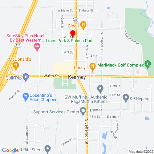 Map of Kearney, MO