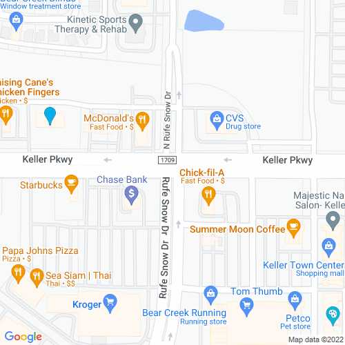 Map of Keller, TX