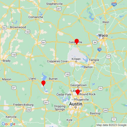 Map of Kempner, TX