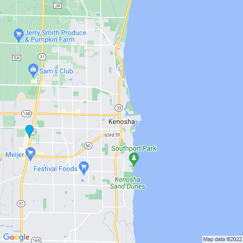 Map of Kenosha, WI
