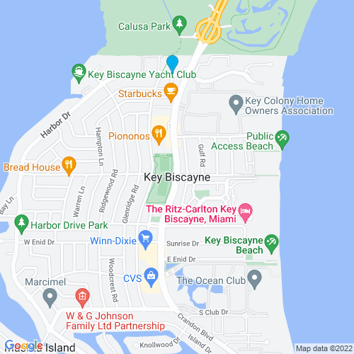 Map of Key Biscayne, FL