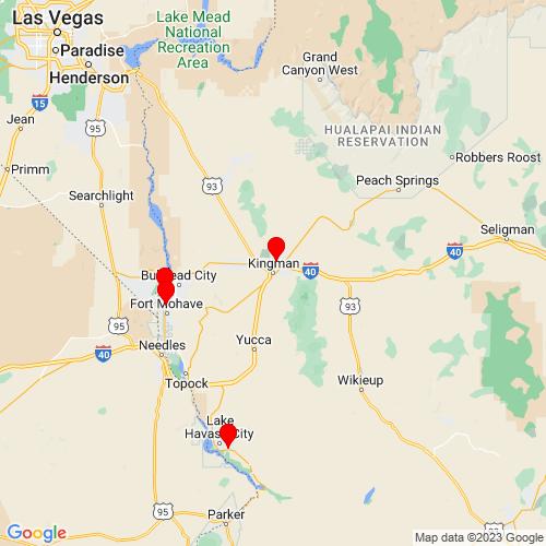 Map of Kingman, AZ