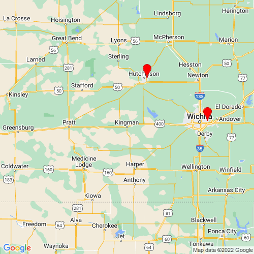 Map of Kingman, KS