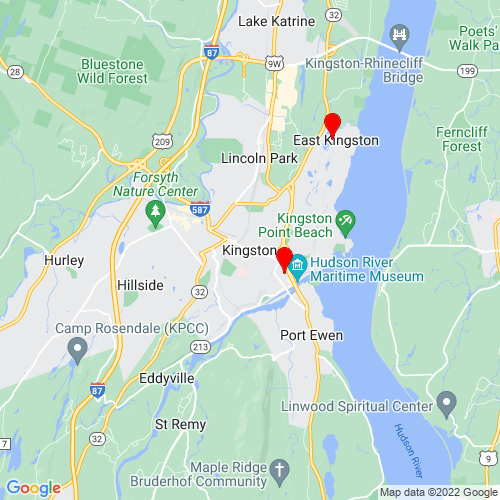 Map of Kingston, NY
