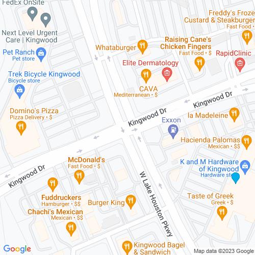 Map of Kingwood, TX