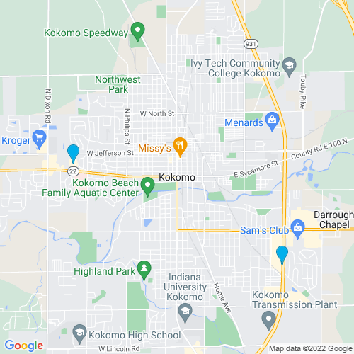 Map of Kokomo, IN