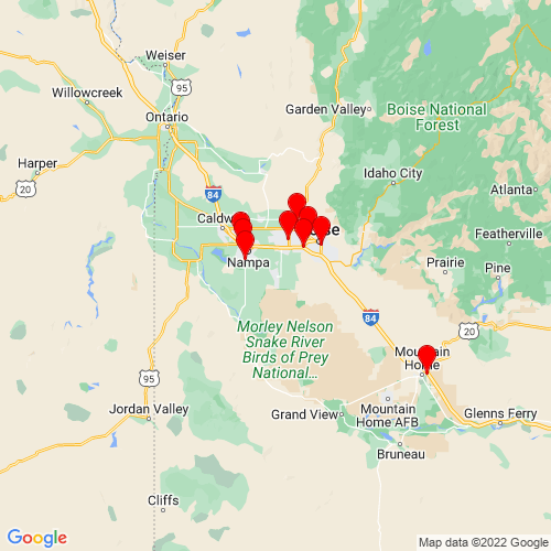 Map of Kuna, ID