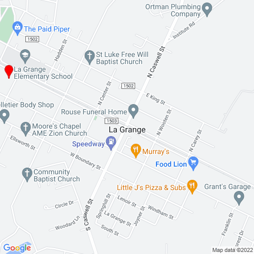 Map of La Grange, NC