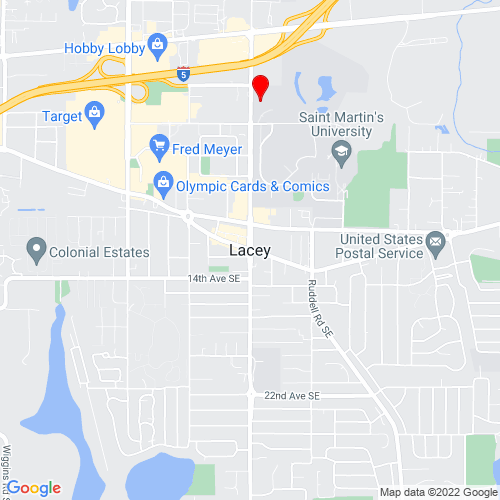 Map of Lacey, WA