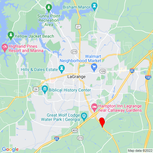 Map of Lagrange, GA