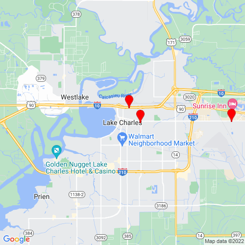 Map of Lake Charles, LA