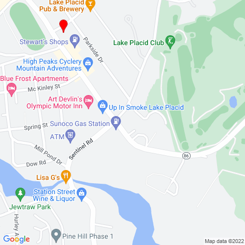 Map of Lake Placid, NY
