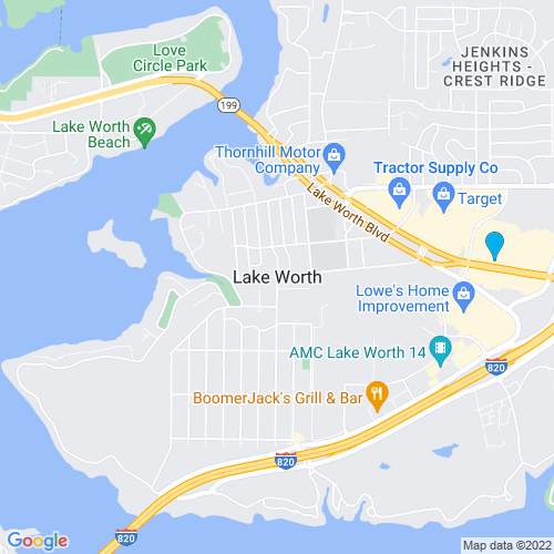 Map of Lake Worth, TX