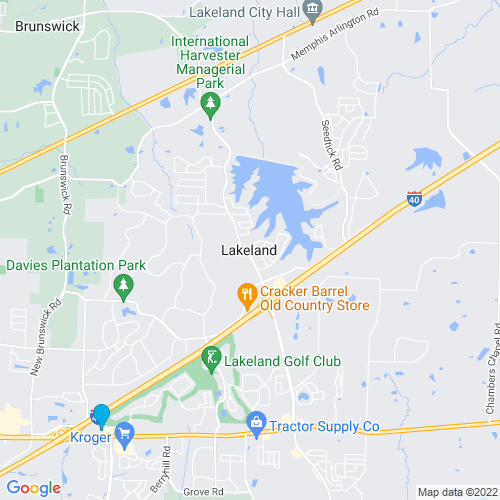Map of Lakeland, TN
