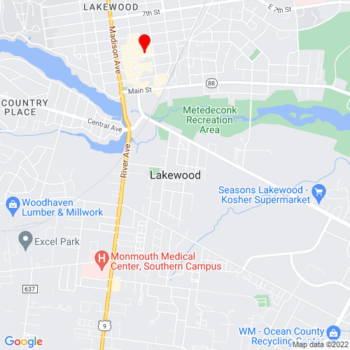 Map of Lakewood, NJ