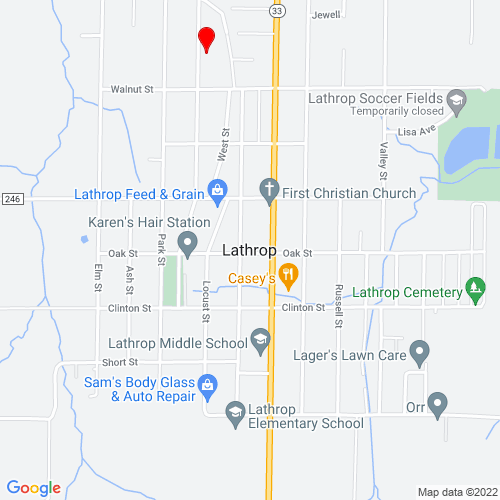 Map of Lathrop, MO