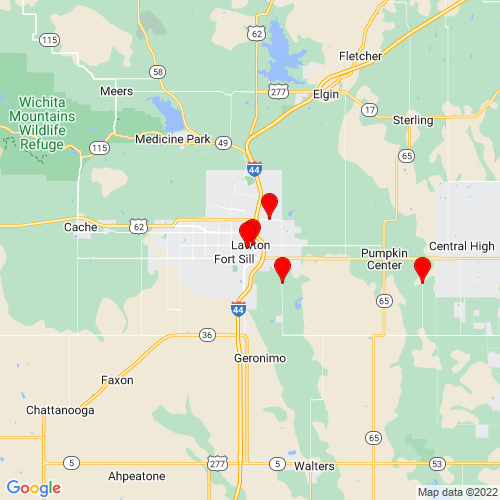 Map of Lawton, OK
