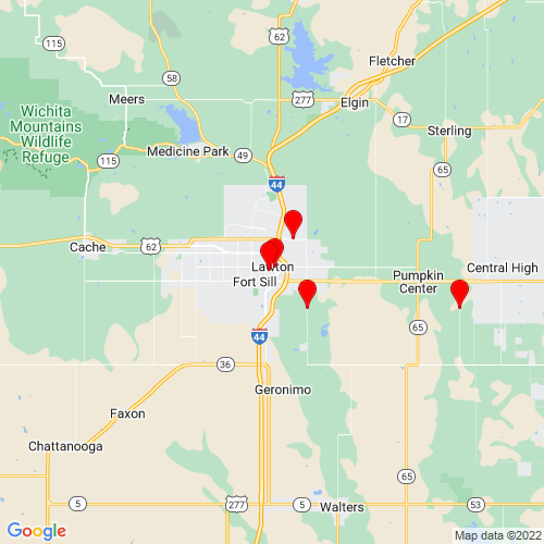 Map of Lawton, OK