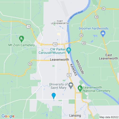 Map of Leavenworth, KS