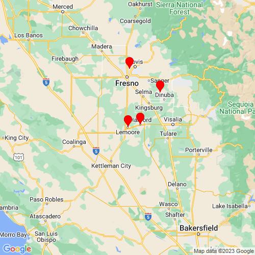 Map of Lemoore, CA