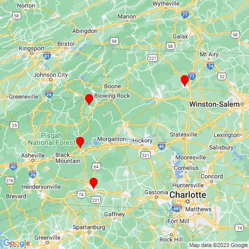 Map of Lenoir, NC