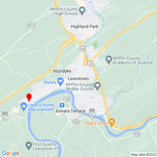 Map of Lewistown, PA